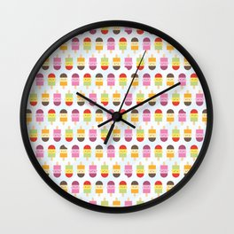 Kawaii Summer Ice Lollies / Popsicles Wall Clock