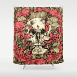 Tattooed Skull Shower Curtain
