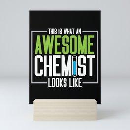 chemistry science funny chemist teacher student Mini Art Print