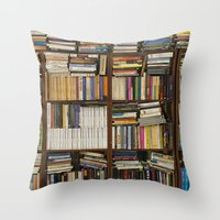 books Throw Pillows featuring books by laika in cosmos