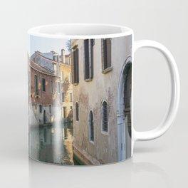 Old man in Venice street at sundown Italy Coffee Mug