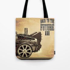 Back to the future III Tote Bag