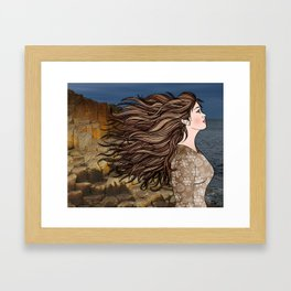 Fionnuala at The Giant's Causeway Framed Art Print
