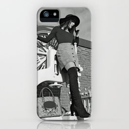 LARA LAY - Industrial Fashioned Girl iPhone Case