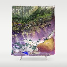 The Turpan Depression Shower Curtain