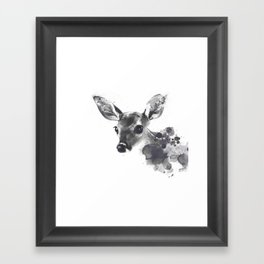 Watercolor Deer Framed Art Print