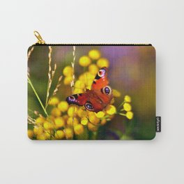 Autumnal Blossoms and Peacock Butterfly Carry-All Pouch