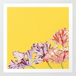 Dutch Tulips Art Print
