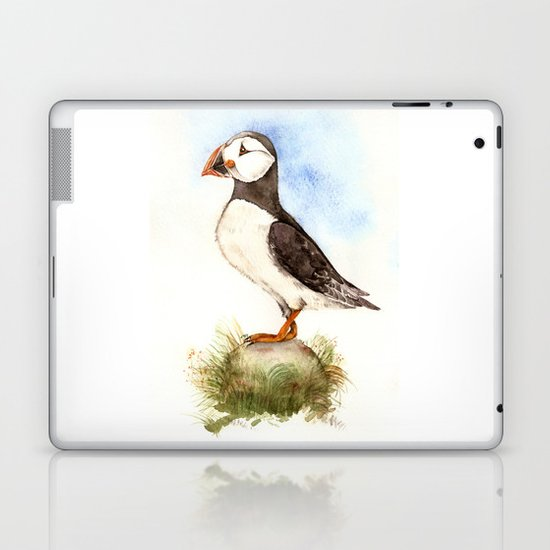 Puffin on a Rock Laptop & iPad Skin