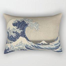 The Great Wave Japanese Art Rectangular Pillow