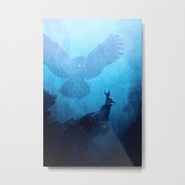 Owl Summoner: Blue Haze Metal Print