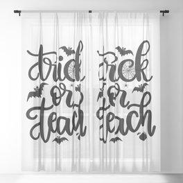 Trick Or Teach - Halloween Holiday Sheer Curtain