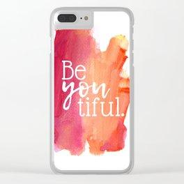 BeYOUtiful Watercolor Print Clear iPhone Case