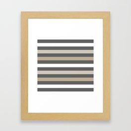 Neutral colors lines Framed Art Print
