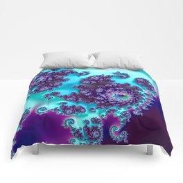 Jewel Tone Fractal Comforters