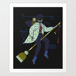 Witch Series: Broomstick Art Print