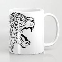 jaguar Mugs featuring Jaguar by FenrierArts