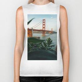 San Francisco Bridge Plant (Color) Biker Tank