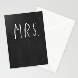 Mrs - Mr and Mrs wedding decoration Stationery Cards