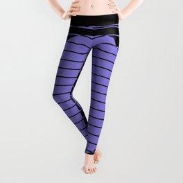 Difference (Minimalistic, pastel blue and black, geometric design) Leggings