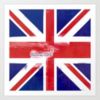 union jack Art Prints featuring union jack  by filippob