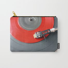 Red Vinyl Record Carry-All Pouch