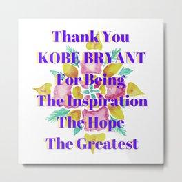 Kobebryant thank you Metal Print