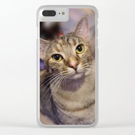 Serious Zoey Clear iPhone Case