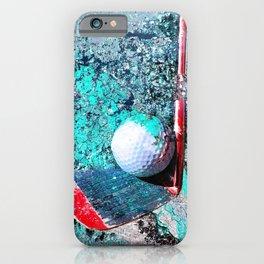 Golf art print work 15 iPhone Case