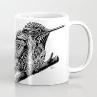 hummingbird Mugs featuring Hummingbird by BIOWORKZ