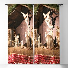 Nativity Scene in St. Patrick's Cathedral Blackout Curtain