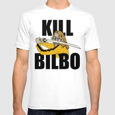 Kill Bilbo SMALL White Mens Fitted Tee