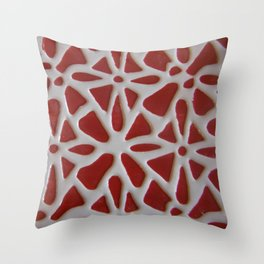 Red Stone Path Throw Pillow
