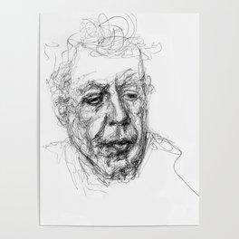 Anthony bourdain sketch Poster