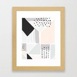 Neutral Geometric Art Print Framed Art Print