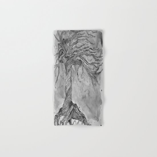 Tree of Life (Grey Scale) Hand & Bath Towel