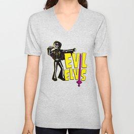 Evil Elvis wackel Zig Unisex V-Neck