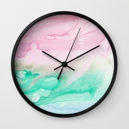 11   | Abstract Minimal Watercolor Painting | 191222 Wall Clock