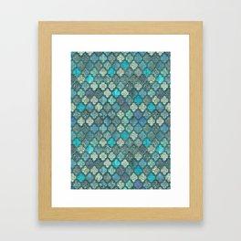Moroccan Inspired Precious Tile Pattern Framed Art Print