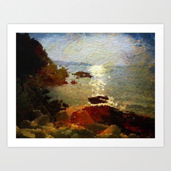 Plage de Saint-Clair - Matin - France Art Print