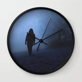 Walk into this void Wall Clock