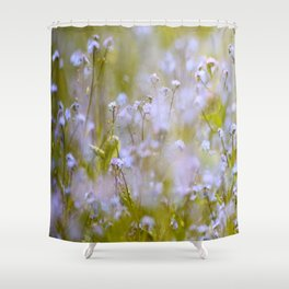 Forget-me-nots On a Windy Day #decor #society6 Shower Curtain