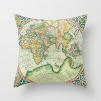 uncharted Throw Pillows featuring Terra Firma by Catherine Holcombe
