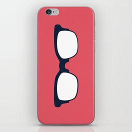 Sun Glasses on Red iPhone Skin