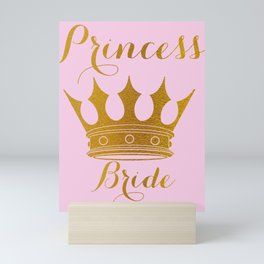 Princess Bride - Gold Faux Foil Crown Mini Art Print
