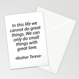 MOTHER TERESA QUOTES Stationery Cards