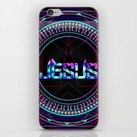 jesus iPhone & iPod Skins featuring JESUS by Naje Anthony Hart