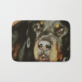 Dogs Lover Rottweiler Pet Portrait Bath Mat