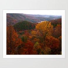 Autumn in Tennessee Art Print