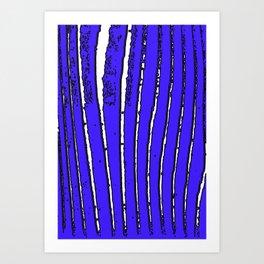 Blue Seaweed Art Print